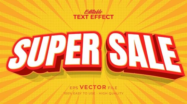 Продажа баннеров с редактируемым текстовым эффектом в стиле комиксов