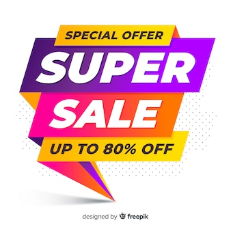 Sale banner in flat design