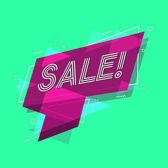 Sale banner flat style.
