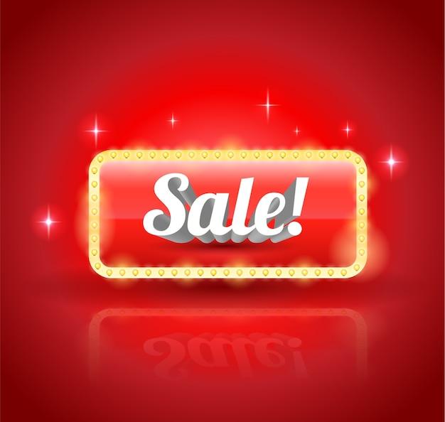 プロモーション割引広告要素のための販売バナー。