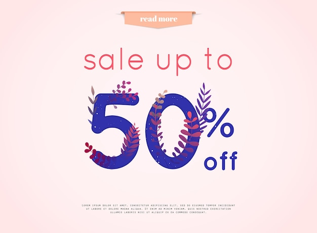 Sale banner illustration
