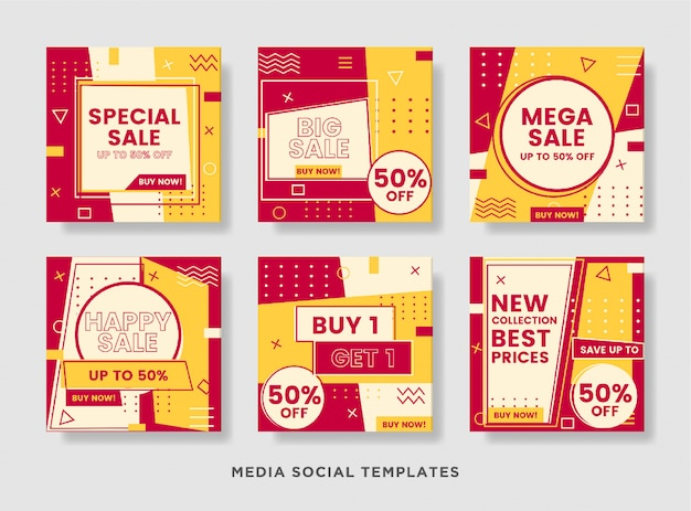 Sale banner layout template for social media post