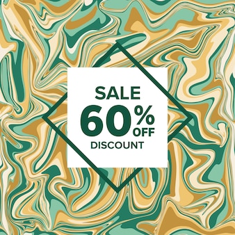 Sale banner marble on background