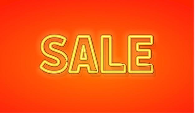 Sale banner neon