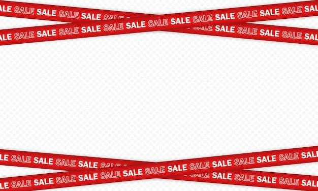 Sale banner or police tape design.