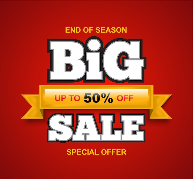Sale banner for promotion discount advertising element.