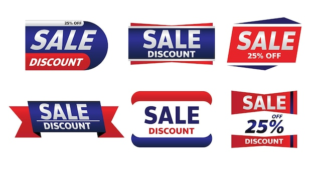 Sale banner promotion tag design for marketing