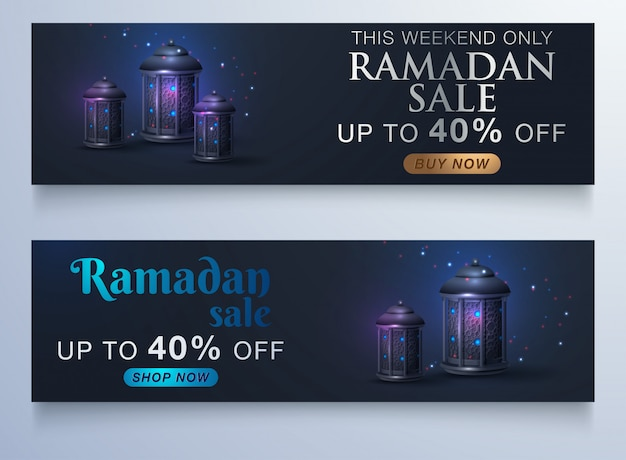 Sale banner or sale poster for festival of eid mubarak