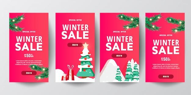Sale banner set for christmas season