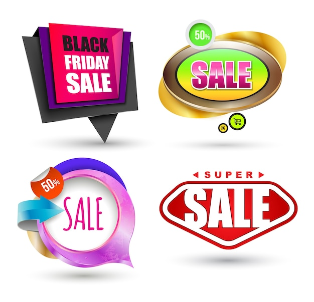 Sale banner set. vector illustration. can use for promotion.