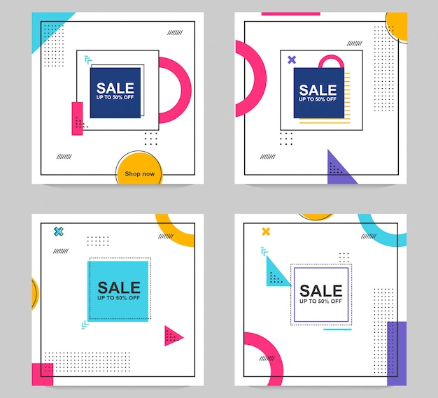 Sale banner template abstract