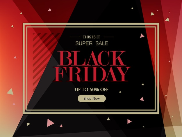 Sale banner template for black friday