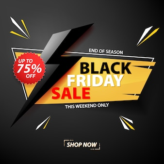 Sale banner template for black friday.