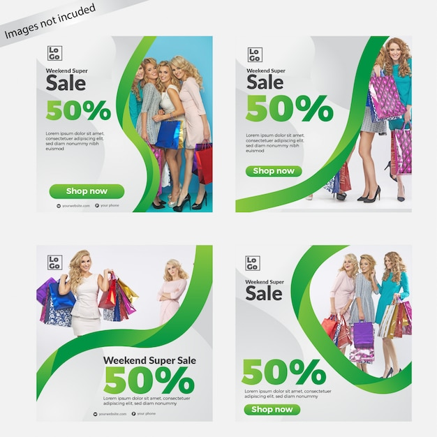 Sale banner template collection for social media