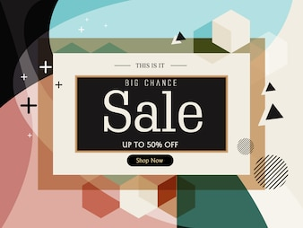 Sale banner template design background