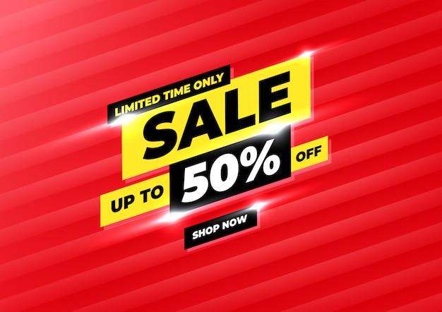 판매 배너 서식 파일 디자인, 큰 판매 특별 행사 홍보 할인 배너.