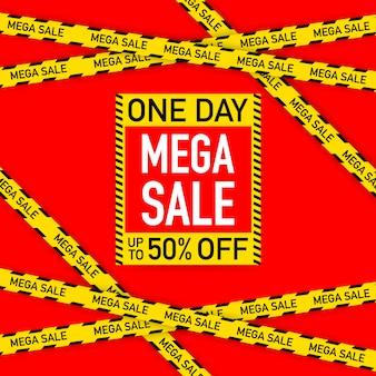 Sale banner template design, big sale special offer. vector stock illustration