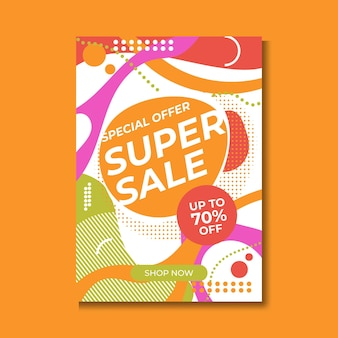 Design del modello di banner di vendita, grande vendita speciale fino all'80% di sconto