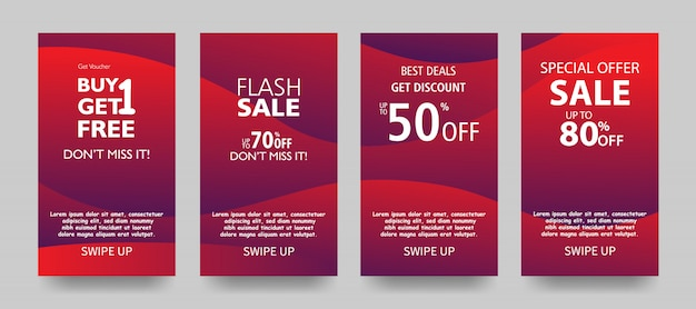 Sale banner template design, end of season special offer