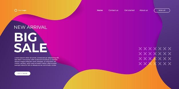 販売バナーテンプレートデザイン。ビジネス、ファッションセール、ウェブヘッダーの新年セール割引バナーテンプレートプロモーションデザイン