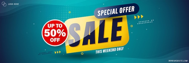 Sale banner template design , sale special up to 50% off.