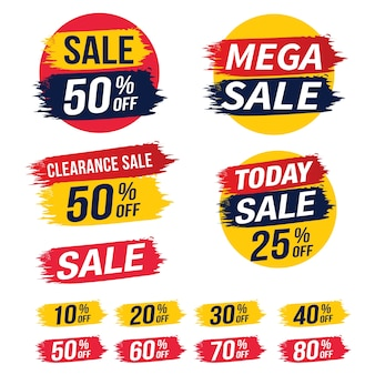 Sale banner template design, vector illustration.