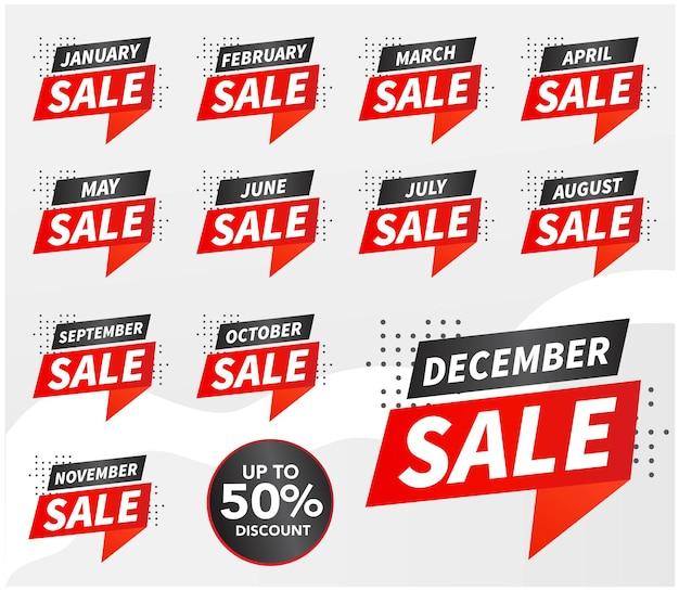 Продажа баннеров шаблон дизайна векторные иллюстрации