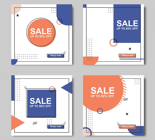 Sale banner template editable