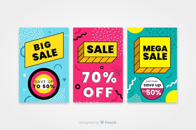 Sale banner template, mega deal discount offer