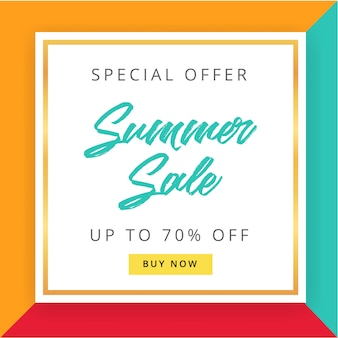Sale banner template in memphis style