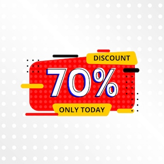 Sale banner template with 70% discount