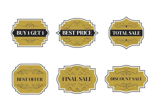 Progettazione di modelli di banner di vendita.