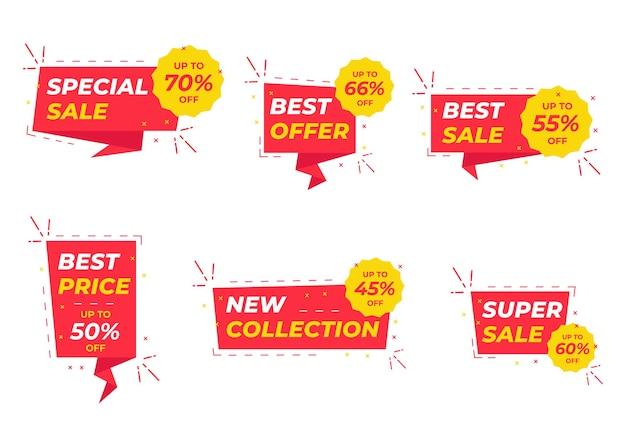 Sale banner templates design.