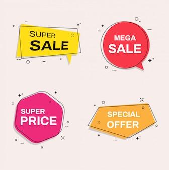 Sale banner templates. super sale, special offer.