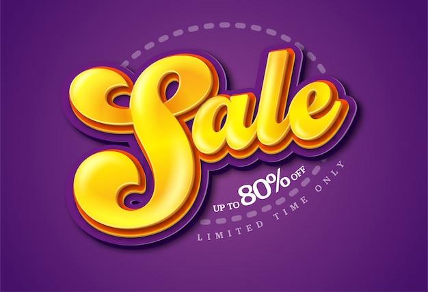 Sale banner transparency template , big sale special up to 80% off. super sale, end of season special offer banner.  illustration.