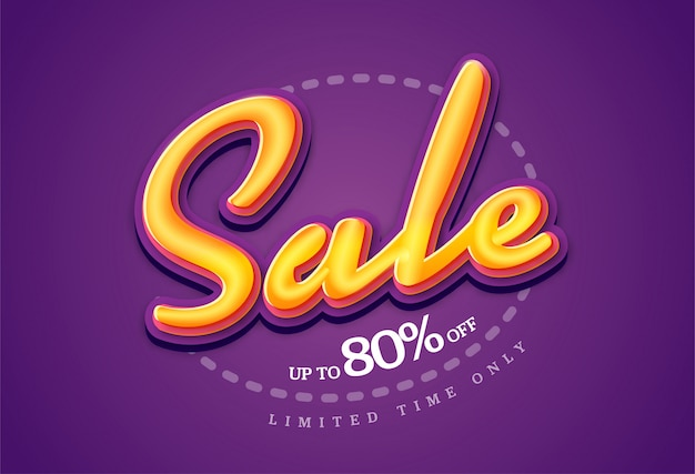 Sale banner transparency template , big sale special up to 80% off. super sale, end of season special offer banner.  illustration.