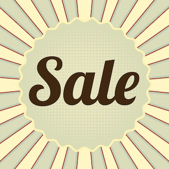 Sale banner in vintage style