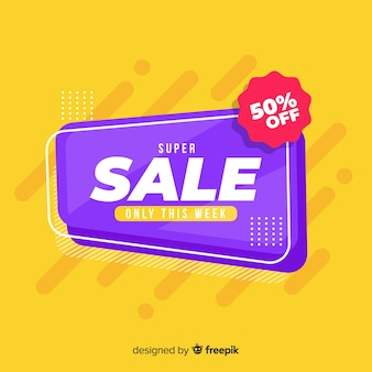 Sale banner with special discount design