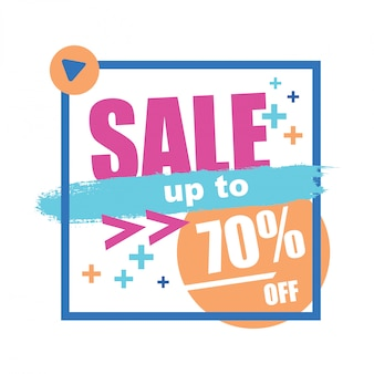 Sale banner with square frame illustration vector