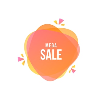 Sale banner with text and geometric shape
