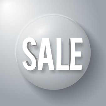 Sale banner with word in sphere