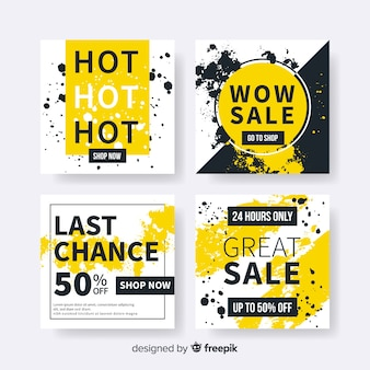 Sale banners collection for social media