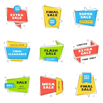 Sale banners design templates set