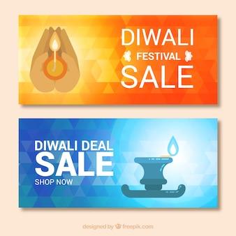 Sale banners of diwali festival
