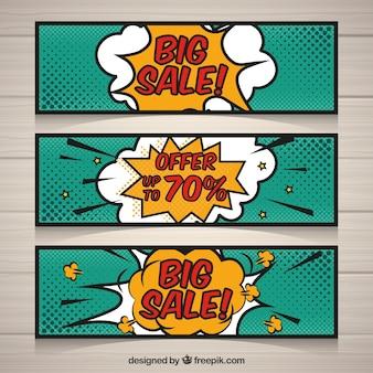 Продажа баннеров в комическом стиле