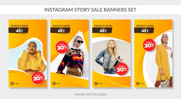 Sale banners set for instagram story and web