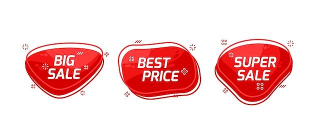 Набор баннеров для продажи премиум векторы