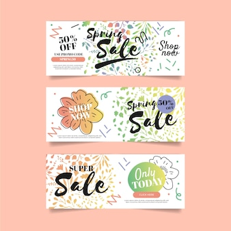 Sale banners for spring