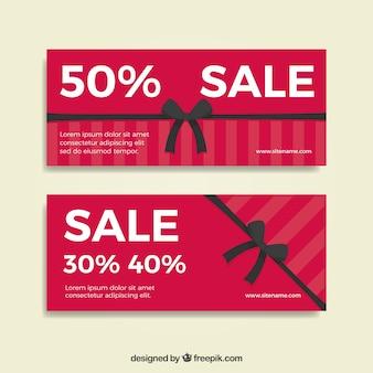 Продажа баннеров с декоративными черными лентами