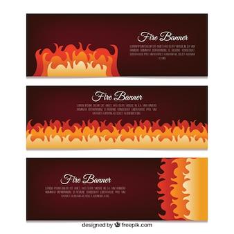 Banner di vendita con il fuoco
